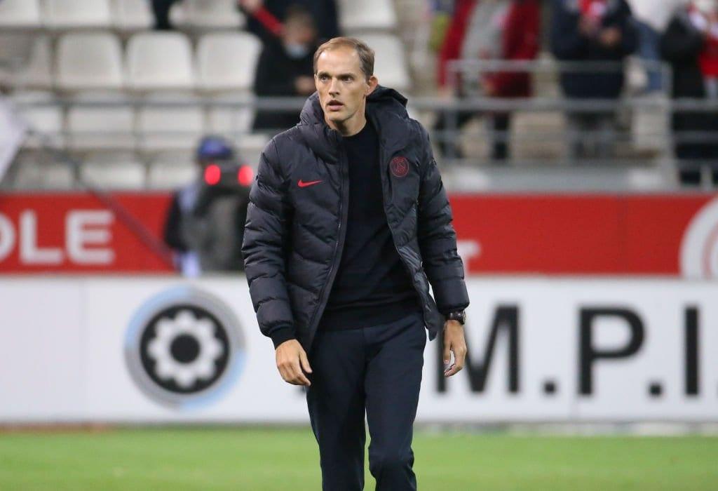 Técnico do PSG Thomas Tuchel em 27 de setembro de 2020 em Reims, França [Jean Catuffe/Getty Images]