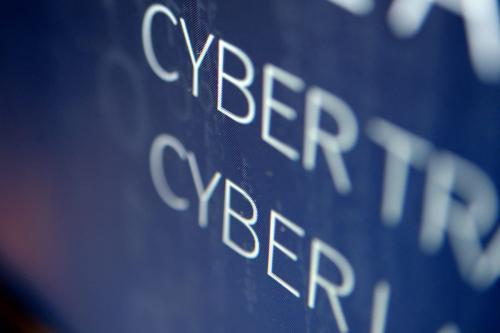 Tela de computador na escola nacional de elite de engenharia do centro de cibersegurança de Bretagne-Sud em Vannes, França em 4 de fevereiro de 2016 [Fred Tanneau/ AFP via Getty Images]