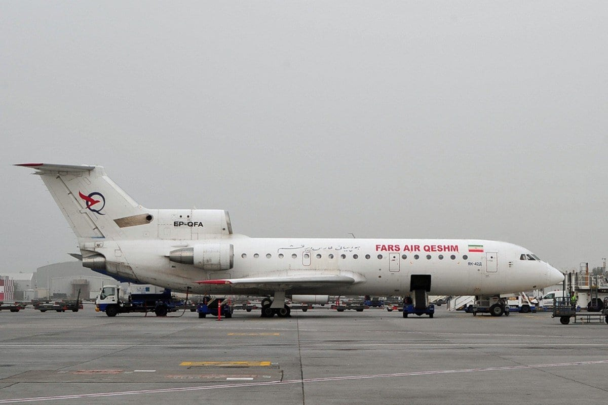 Avião iraniano da companhia Fars Air Qeshm, em 5 de março de 2011 [Steven Byles/Wikipedia]
