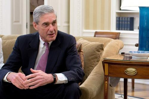 Robert Mueller, ex-procurador especial do Departamento de Justiça dos Estados Unidos, em 6 de março de 2018 [Wikipedia]