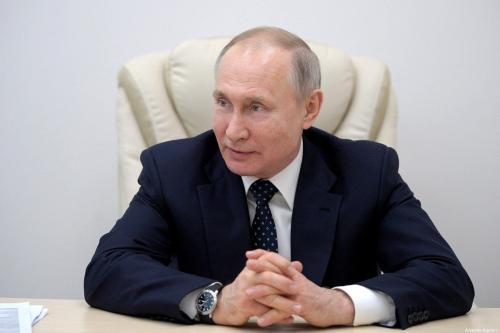 Presidente da Rússia Vladimir Putin em Moscou, 24 de março de 2020 [Gabinete de Imprensa do Kremlin/Agência Anadolu]