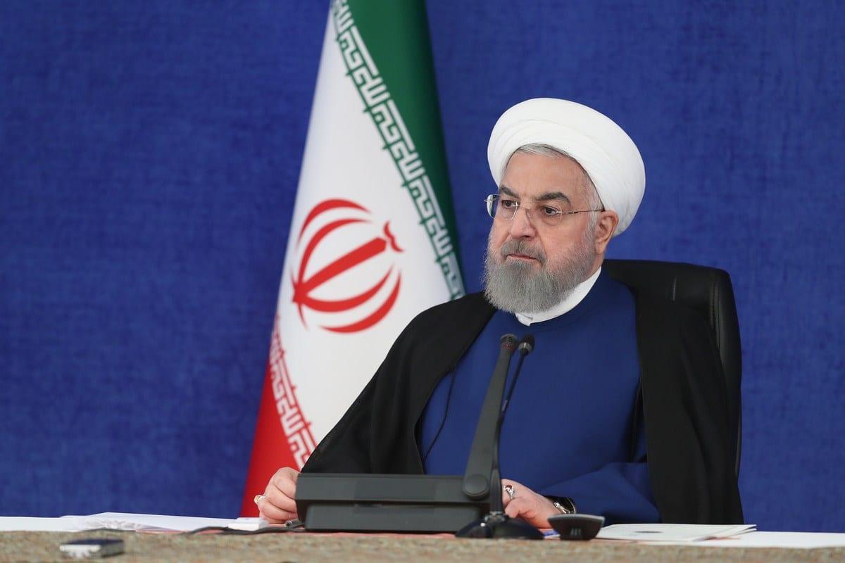 Presidente do Irã Hassan Rouhani discursa em reunião do Conselho Nacional de Combate ao Coronavírus, em Teerã, 7 de novembro de 2020 [Presidência do Irã/Agência Anadolu]