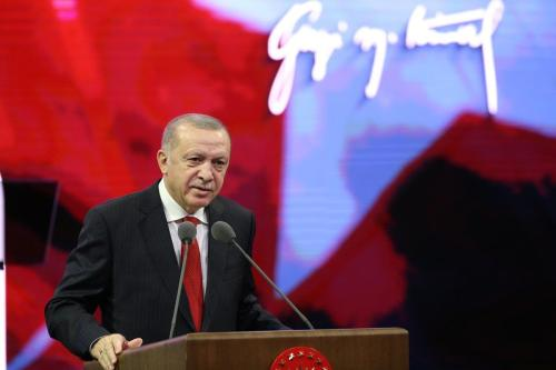 Presidente da Turquia Recep Tayyip Erdogan, 10 de novembro de 2020 [Mustafa Kamaci/Agência Anadolu]