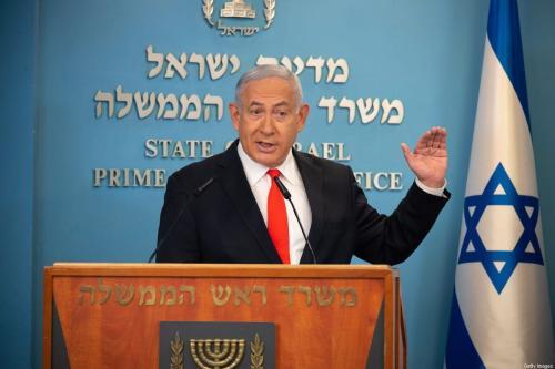 O primeiro-ministro israelense Benjamin Netanyahu em Jerusalém em 13 de setembro de 2020 [Yoav Dudkevithch/ AFP / Getty Images]