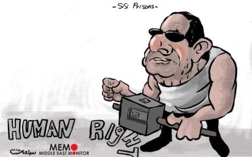 Prisões de Sisi - charge [Sabaaneh / Monitor do Oriente Mèdio]