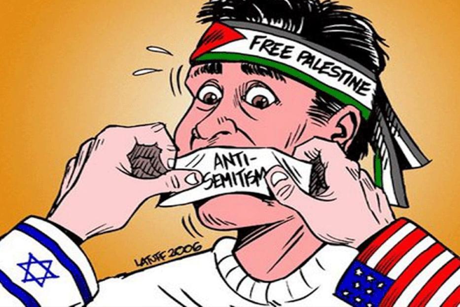 Caricatura de Carlos Latuff - Críticas a Israel rotuladas como antissemitismo [Twitter]
