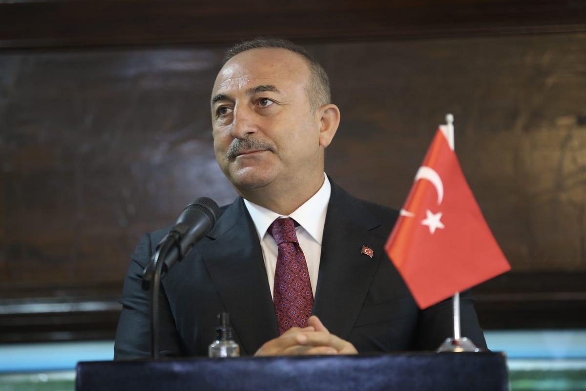 Ministro de Relações Exteriores da Turquia Mevlut Cavusoglu, em Dhaka, Bangladesh, 23 de dezembro de 2020 [Fatih Aktas/Agência Anadolu]