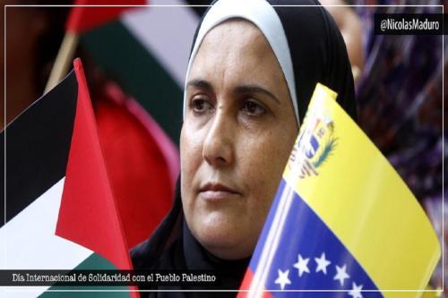 o presidente Nicolás Maduro lembrou a data através do Twitter e pediu o fim do bloqueio em Gaza imposto por Israel desde 2006