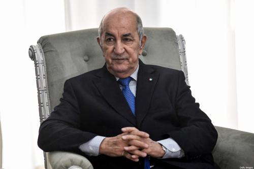 Presidente da Argélia Abdelmadjid Tebboune, em 21 de janeiro de 2020 [Kramdi/AFP/Getty Images]