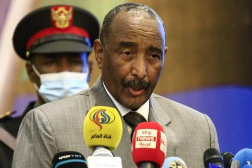Chefe do Conselho Soberano do Sudão, general Abdel Fattah Al-Burhan, em Cartum, Sudão, em 26 de setembro de 2020. [Ashraf Shazly/AFP/Getty Images]