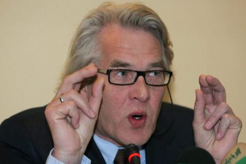 Enviado especial da ONU para o processo de paz no Oriente Médio, Tor Wennesland , em 17 de fevereiro de 2009 [KHALIL MAZRAAWI/AFP/ Getty Images]