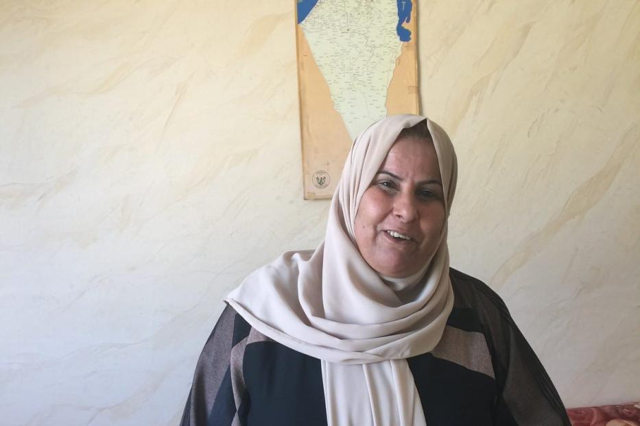 Jondiaa Awwad Al Dheini, palestina que vive no campo de refugiados de Jerash, na Jordânia, 29 de dezembro de 2020