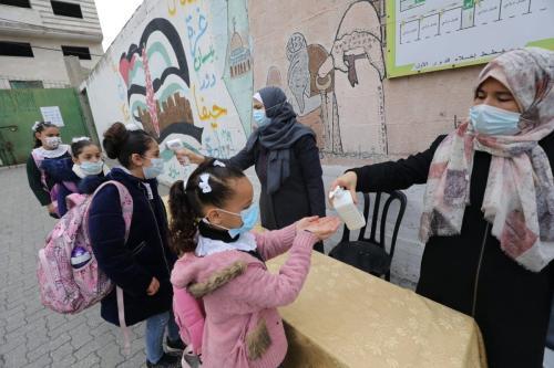 Gaza reabre escolas primárias após lockdown em decorrência da covid-19
