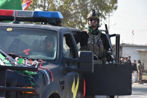 Forças de segurança iraquianas em Kirkuk, Iraque, em 9 de janeiro de 2021. [Ali Makram Ghareeb/Agência Anadolu]