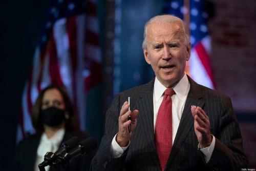 Joe Biden, presidente eleito dos Estados Unidos, no estado de Delaware, 19 de novembro de 2020 [Jim Watson/AFP/Getty Images]