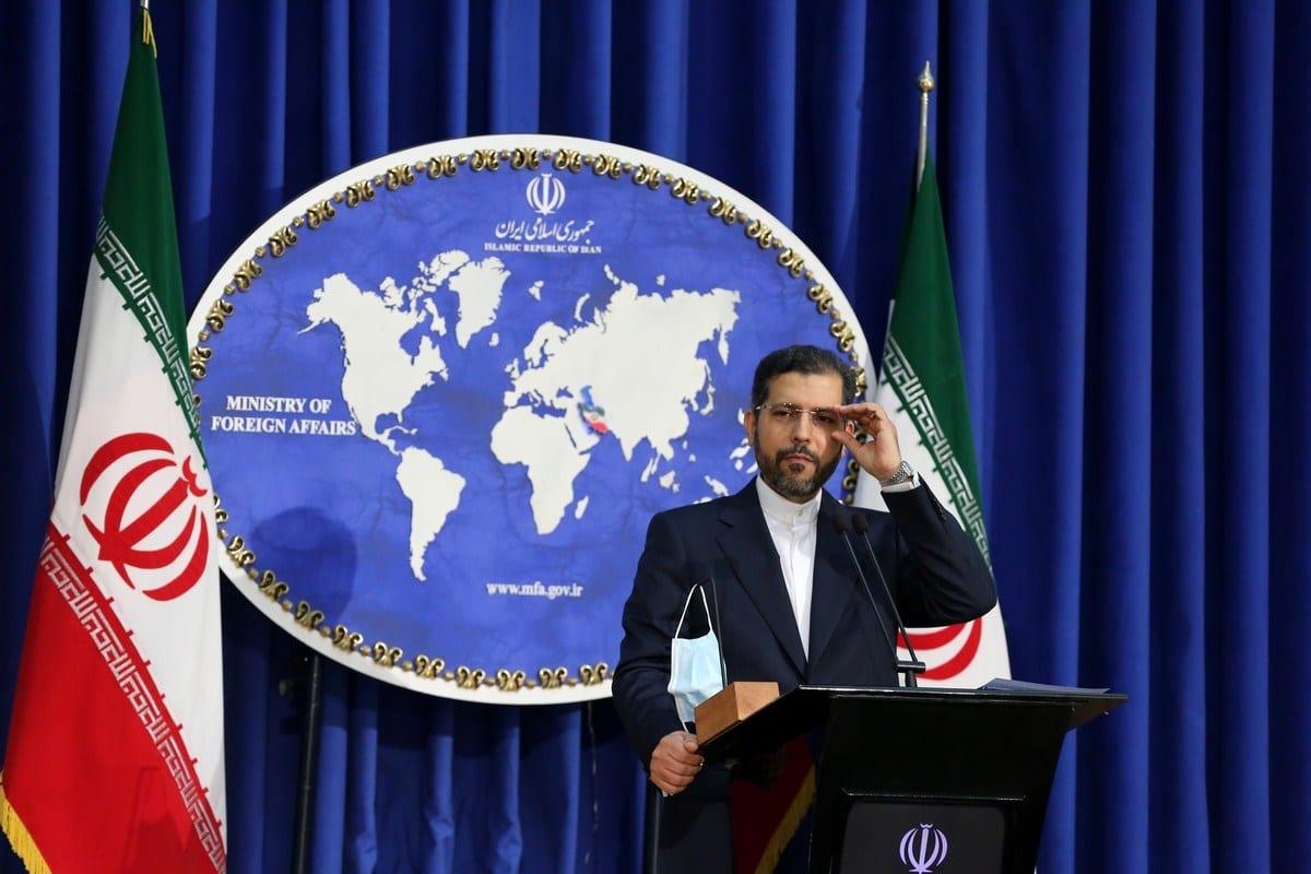 Porta-voz do Ministério das Relações Exteriores iraniano, Saeed Khatibzadeh, em Teerã, Irã em 5 de outubro de 2020 [Agência Fatemeh Bahrami / Anadolu]