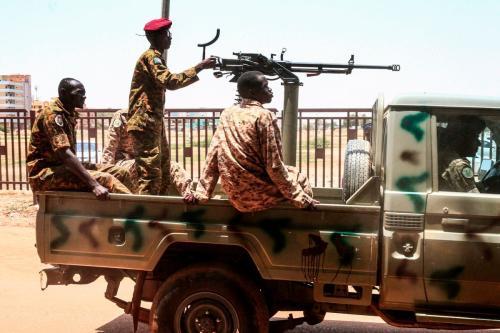 Soldados do exército sudanês no Sudão em 31 de agosto de 2019 [Ebrahim Hamid/AFP/Images]