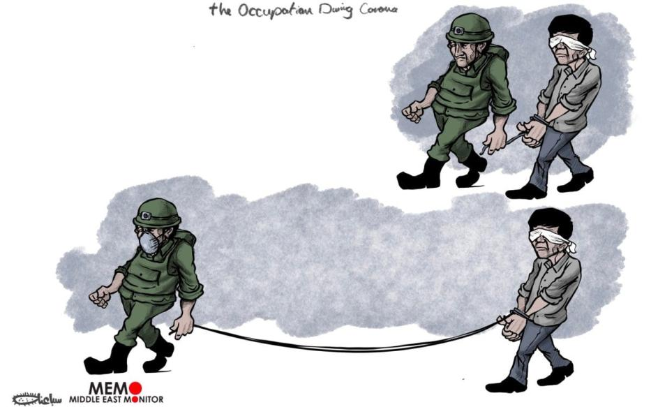 Forças israelenses continuam a prender palestinos apesar do coronavírus [Sabaaneh/Monitor do Oriente Médio]