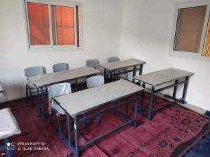 Uma escola palestina improvisada na Cisjordânia, 14 de janeiro de 2021. [Hanan Debek/Monitor do Oriente Médio]