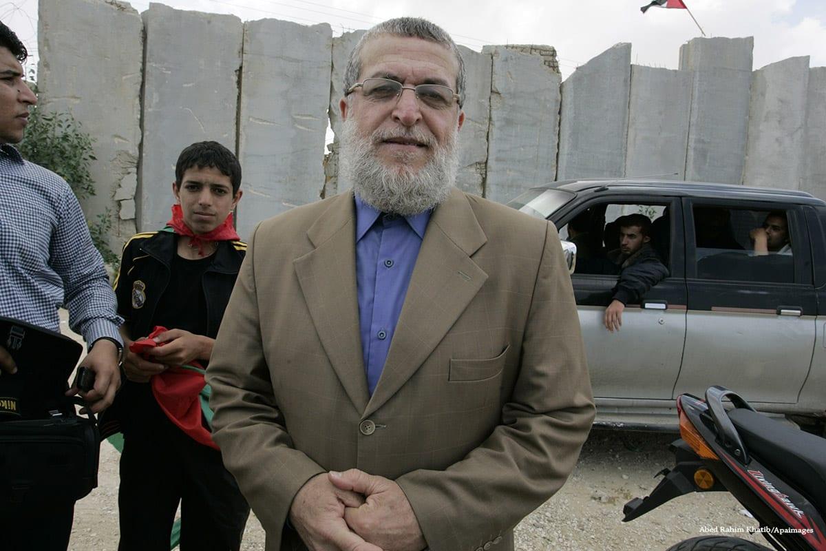 Líder palestino sênior da Jihad islâmica, Nafez Azzam em 15 de maio de 2011 [Abed Rahim Khatib / Apaimages]