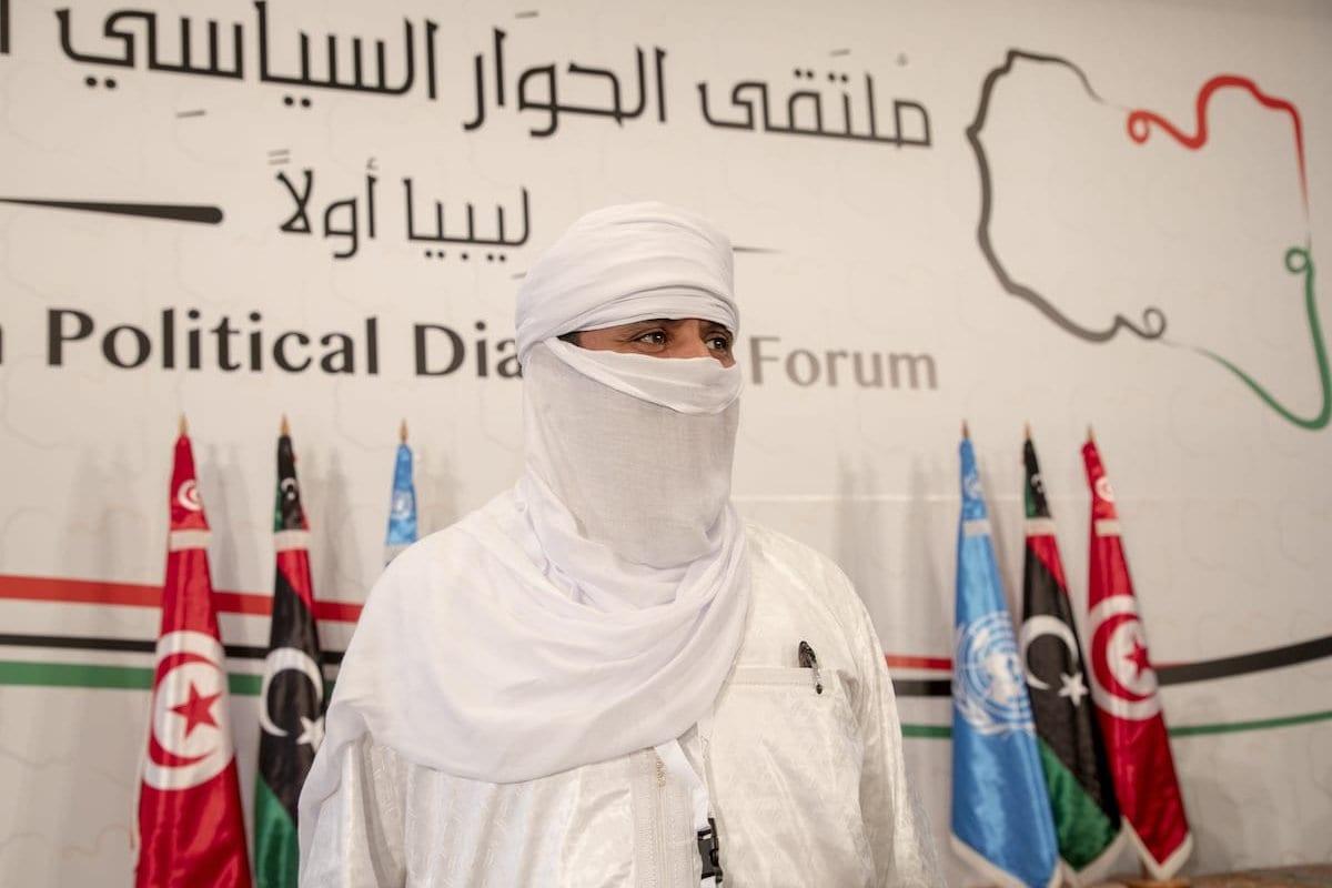Os partidos líbios participaram da sessão de abertura do Fórum de Diálogo Político da Líbia em Túnis, Tunísia, em 9 de novembro de 2020. [Yassine Gaidi/Agência Anadolu]