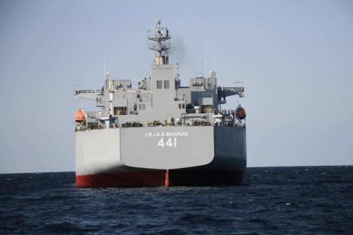 Exercício naval 'Force-99' organizado pela Marinha da República da Irã no Mar de Omã, Oceano Índico, em 13 de janeiro de 2021. [Exército Iraniano/Agência Anadolu]