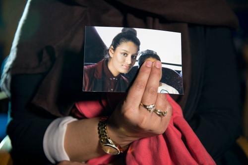 Uma fotografia de Shamima Begum em Londres, Reino Unido, em 22 de fevereiro de 2015. [Laura Lean/WPA Pool/Getty Images]