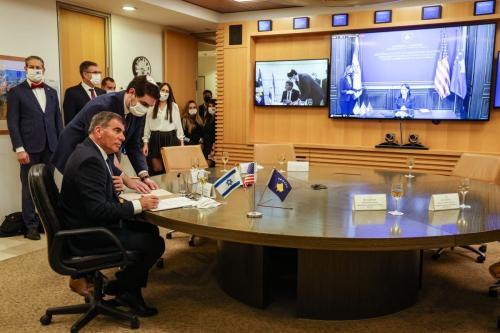 Israel e Kosovo instituem laços em encontro virtual