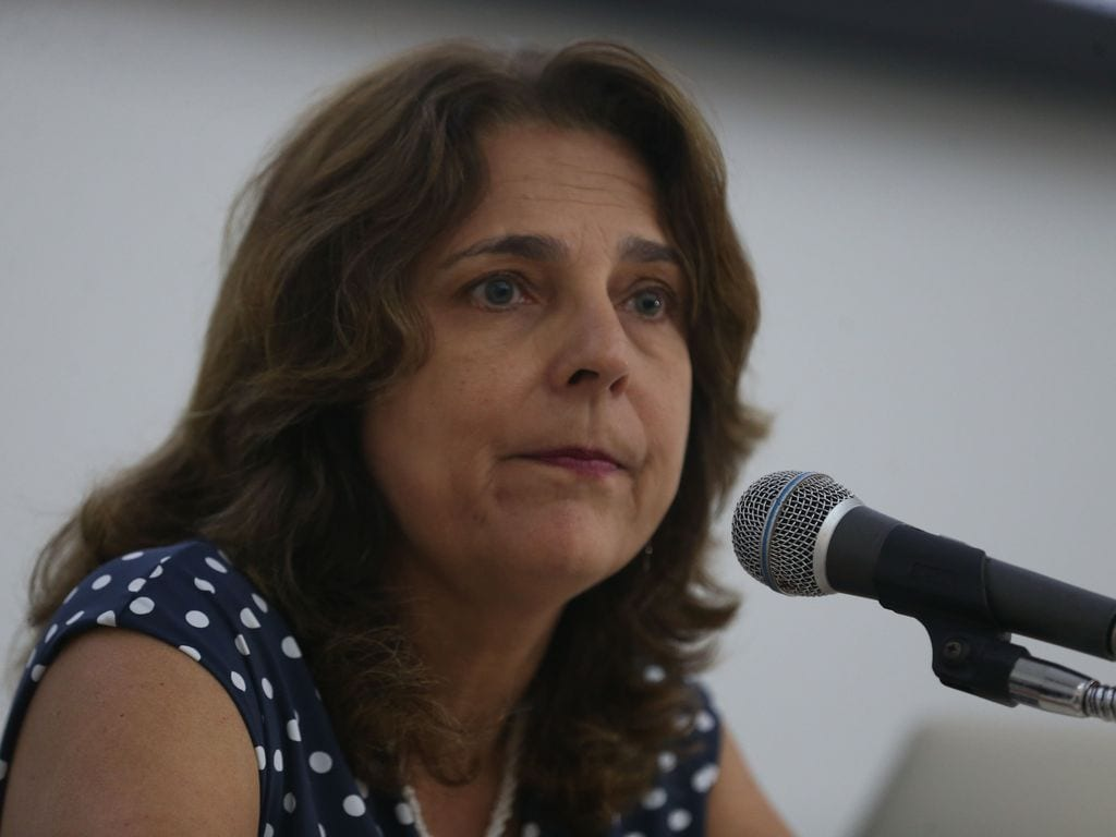 Márcia Abrahão, reitora da Universidade de Brasília, em 29 de março de 2018 [Valter Campanato/Agência Brasil]
