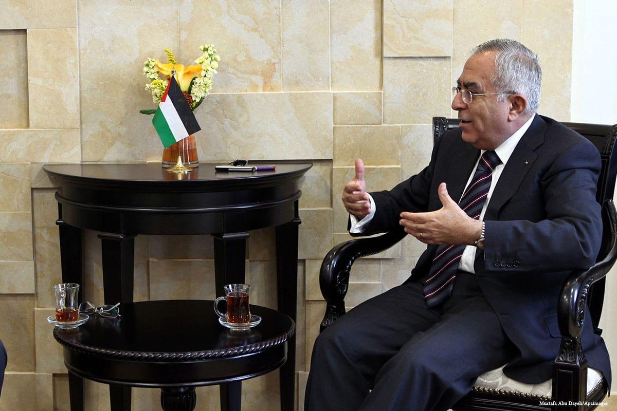 Wasel Abu-Yousef, membro do Comitê Executivo da Organização para a Libertação da Palestina (OLP) [Mustafa Abu Dayeh/Apaimages]