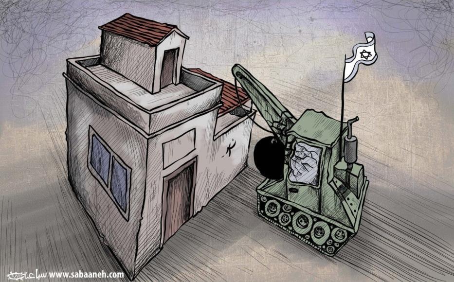 Demolições de casas palestinas. [Sabaaneh/Monitor do Oriente Médio]