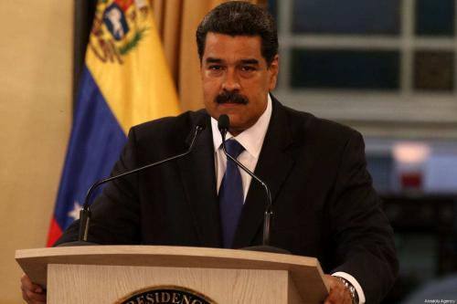 O presidente da Venezuela, Nicolás Maduro, em Caracas, Venezuela, em 8 de fevereiro de 2019. [Lokman İlhan/Anadolu Agency]