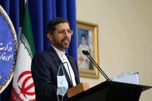 O porta-voz do Ministério das Relações Exteriores iraniano, Saeed Khatibzadeh, em Teerã, Irã, em 5 de outubro de 2020. [Fatemeh Bahrami/Anadolu Agency]