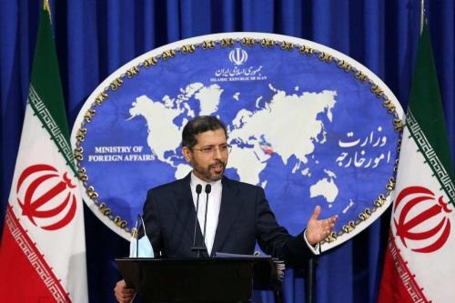 Saeed Khatibzadeh, porta-voz do Ministério de Relações Exteriores do Irã, comenta sobre o conflito entre Azerbaijão e Armênia durante coletiva de imprensa em Teerã, Irã, 5 de outubro de 2020 [Fatemeh Bahrami/Agência Anadolu]