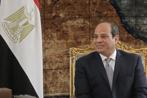 Presidente do Egito Abdel Fattah el-Sisi no palácio presidencial, no Cairo, 28 de janeiro de 2019 [Ludovic Marin/AFP/Getty Images]