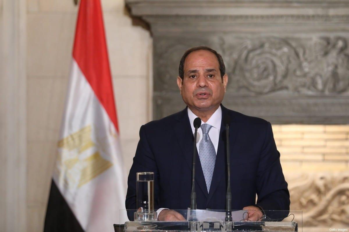 Presidente do Egito Abdel Fattah al-Sisi em Atenas, Grécia, 11 de novembro de 2020 [Costas Baltas/AFP/Getty Images]