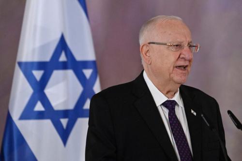 O presidente de Israel Reuven Rivlin em Berlim em 16 de março de 2021 [John Macdougall/ AFP via Getty Images]
