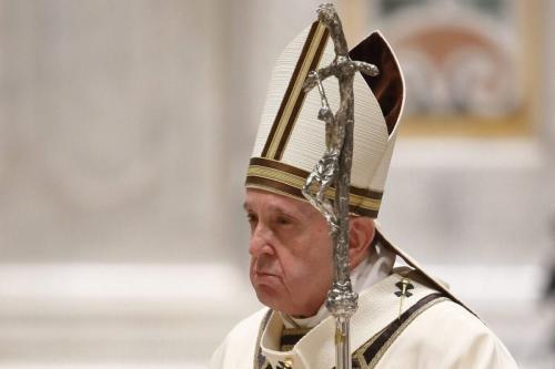 O Papa Francisco celebra a Missa de Véspera de Natal na Basílica de São Pedro em 24 de dezembro de 2020 na Cidade do Vaticano, Vaticano [Vaticano/ Getty Images]