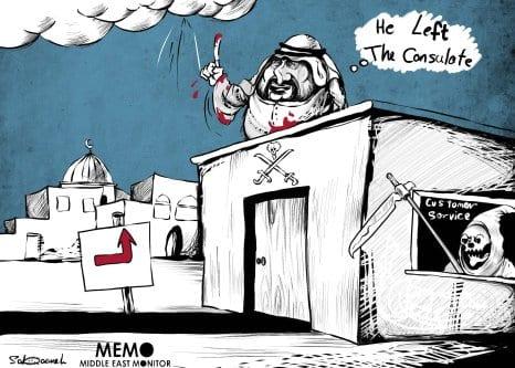 Onde está Jamal Khashoggi?… - Charge [Sabaaneh/ Monitor do Oriente Médio]