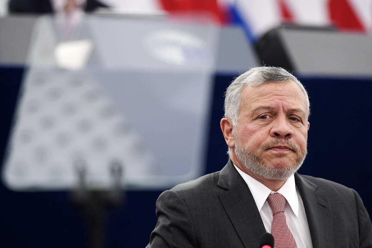 Rei Abdullah II da Jordânia no Parlamento Europeu, França, 15 de janeiro de 2020 [Frederick Florin/AFP/Getty Images]