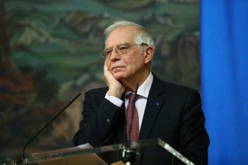 Alto Representante da UE para as Relações Exteriores e Política de Segurança, Josep Borrell em 5 de fevereiro de 2021 [Ministério das Relações Exteriores da RU / Agência Anadolu]