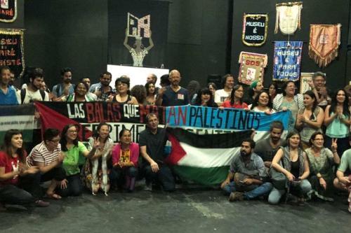 Integrantes de movimentos sociais de várias partes do mundo no museu da Maré participam do Julho Negro , 2017 [Foto arquivo Pessoal]