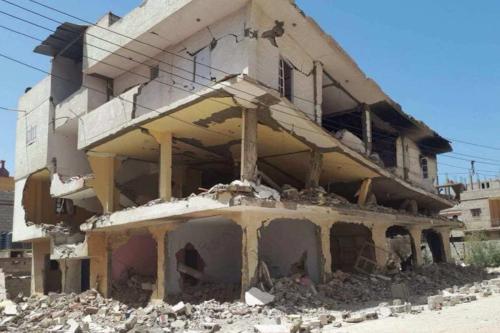 """O exército egípcio """"expandiu enormemente"""" a destruição de casas, edifícios comerciais e fazendas desde 9 de fevereiro de 2018. [Twitter]"""