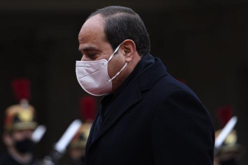 Presidente do Egito, Abdel Fattah Al-Sisi em Paris, França em 7 de dezembro de 2020 [Julien Mattia/ Agência Anadolu]