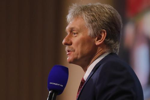 Porta-voz do presidente russo, Dmitry Peskov, em Moscou, Rússia, em 17 de dezembro de 2020 [Sefa Karacan/Anadolu Agency]