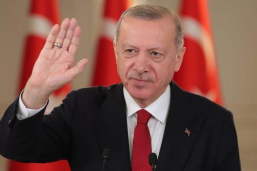 Presidente turco Recep Tayyip Erdogan em Istambul, Turquia, em 6 de março de 2021 [Mustafa Kamacı/Anadolu Agency]