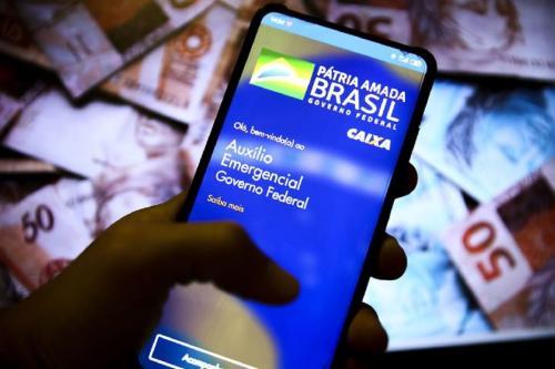 Aplicativo do auxílio emergencial brasileiro [Marcelo Camargo/Agência Brasil]
