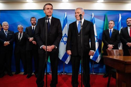 O presidente brasileiro, Jair Bolsonaro, e o primeiro-ministro israelense, Benajmin Netanyahu, em Israel, 31 de março de 2019 [Alan Santos/Presidência da República/AbR]