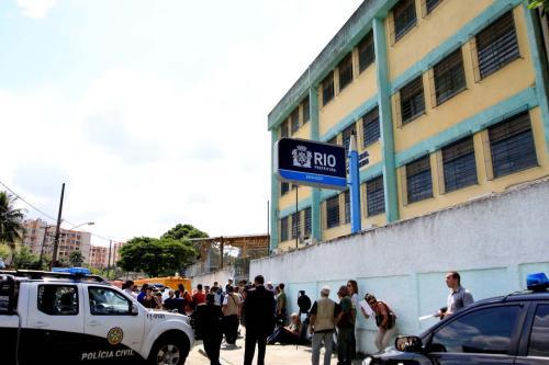 Escola Tasso da Silveira, em Realengo, após tiroteio que provocou a morte de diversos alunos, no Rio de Janeiro [Shana Reis/Governo do Estado do Rio de Janeiro]