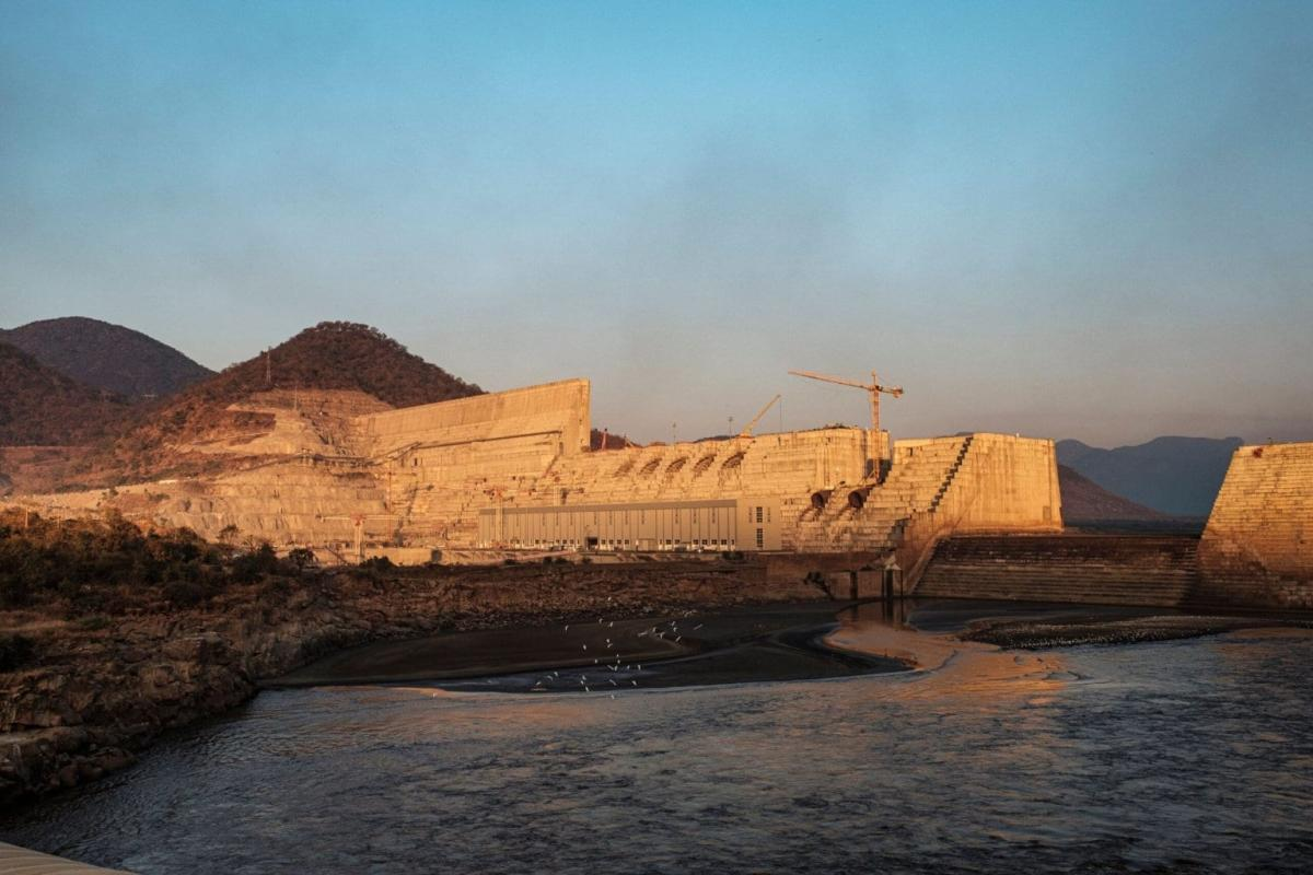 Uma visão geral da Grande Barragem da Renascença Etíope (GERD), perto de Guba, na Etiópia, em 26 de dezembro de 2019 [EDUARDO SOTERAS/AFP via Getty Images]